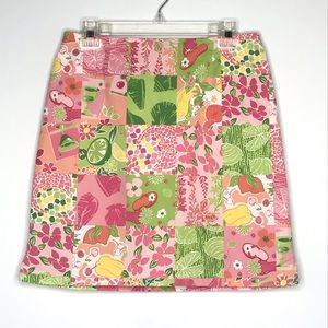 Pants - Skort Tahiti Reef Club Pink Green Floral  Cotton 6